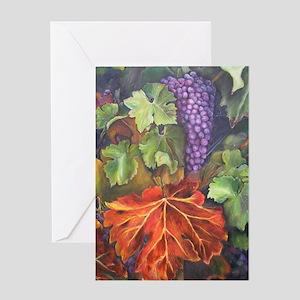California Grapes Greeting Card