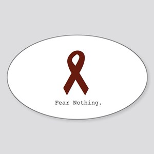 Burgundy. Fear Nothing Sticker