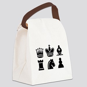 Chess game Canvas Lunch Bag