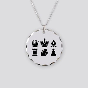 Chess game Necklace Circle Charm