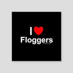 "Floggers Square Sticker 3"" x 3"""