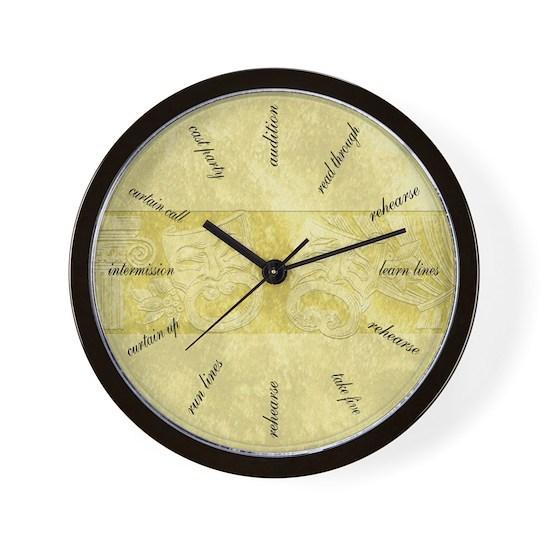 Theater-Mask-clock