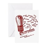 Cunningham Tubes Greeting Cards (Pk of 20)