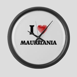 I Love Mauritania Large Wall Clock