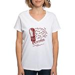 Cunningham Tubes Women's V-Neck T-Shirt