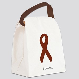 Burgundy. Strong Canvas Lunch Bag