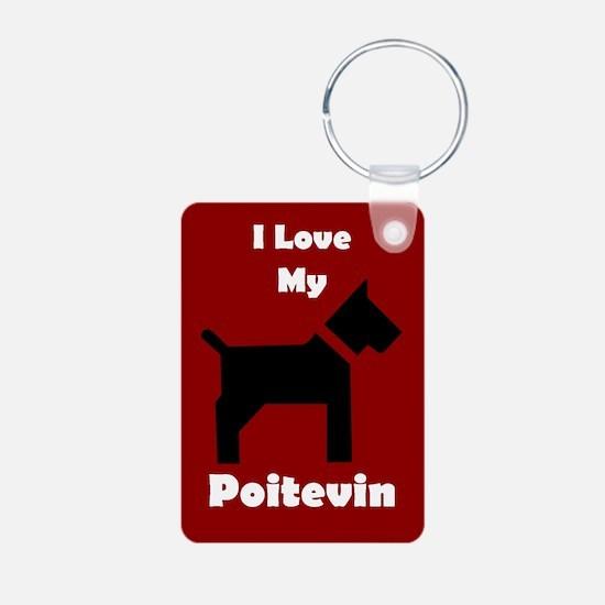 I Love My Poitevin Dog Keychain Keychains