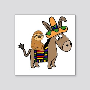 Funny Sloth Riding Burro Sticker