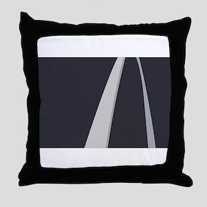 Gateway Arch Flag Throw Pillow