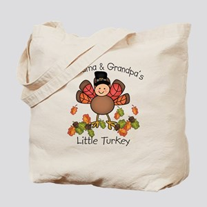 Grandma & Grandpa's Lil Turkey Tote Bag
