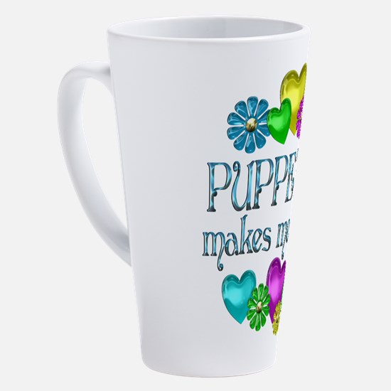 Cute Puppets 17 oz Latte Mug