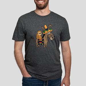 Funny Sloth Riding Burro T-Shirt