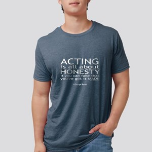 George Burns Acting Quote Women's Dark T-Shirt