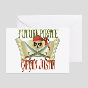 Captain Justin Greeting Card
