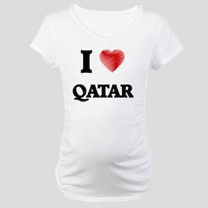 I Love Qatar Maternity T-Shirt