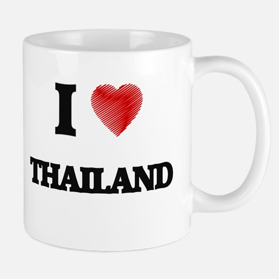 I Love Thailand Mugs