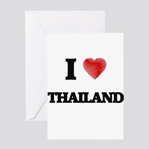 Thai language greeting cards cafepress i love thailand greeting cards m4hsunfo