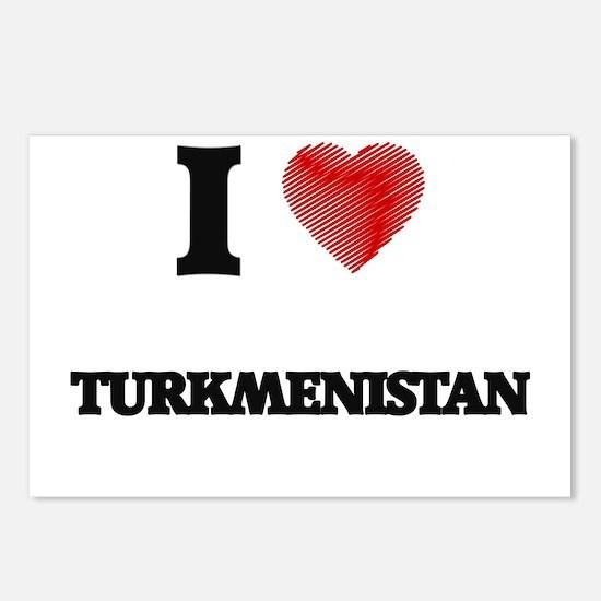 I Love Turkmenistan Postcards (Package of 8)