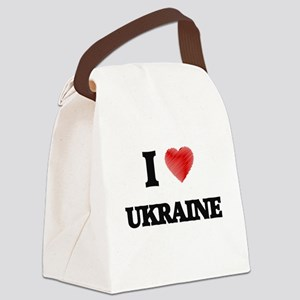 I Love Ukraine Canvas Lunch Bag