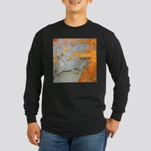 grey yellow metal abstract Long Sleeve T-Shirt