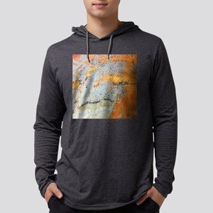 grey yellow metal abstract Long Sleeve T-Shirt
