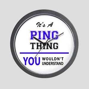 It's PING thing, you wouldn't understan Wall Clock
