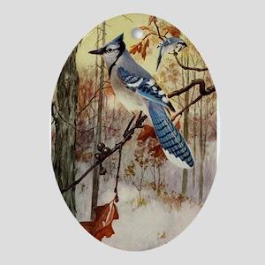 R Bruce Horsfall's The Blue Jay Oval Ornament