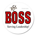 The BOSS Round Car Magnet