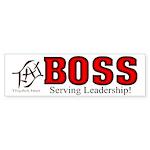 The BOSS Bumper Sticker