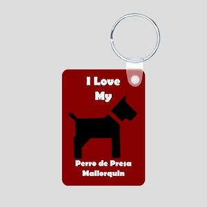 I Love My Perro de Presa Mallorquin Dog Keychain K