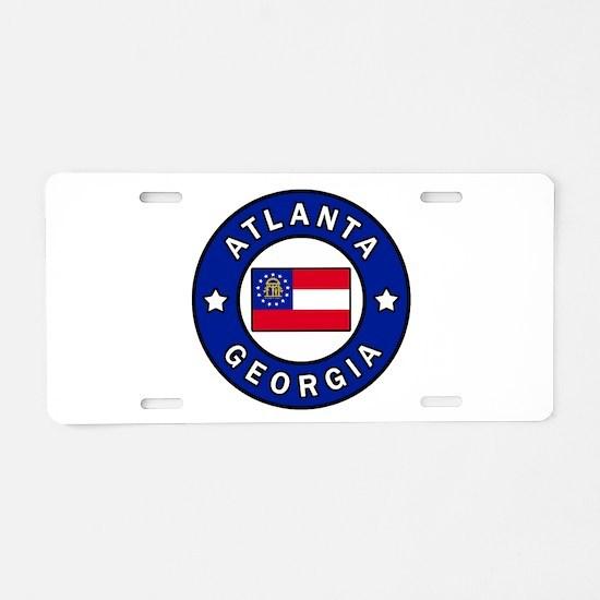Atlanta Georgia Aluminum License Plate
