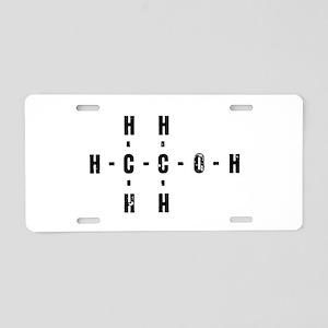 Molecular Alcohol Aluminum License Plate