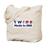 Twins Made in USA Tote Bag
