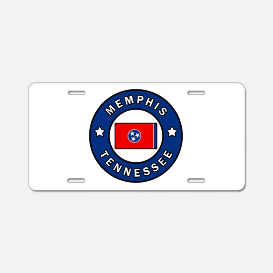 Memphis Tennessee Aluminum License Plate