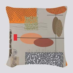 Mid-Century Modern Woven Throw Pillow