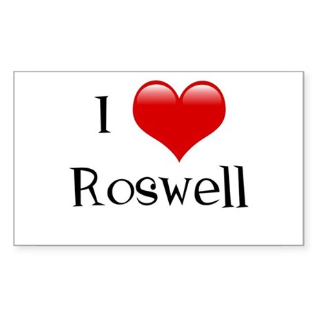 I Love Roswell Rectangle Sticker