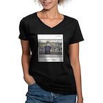 Fast acting placebos Women's V-Neck Dark T-Shirt