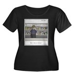 Fast act Women's Plus Size Scoop Neck Dark T-Shirt