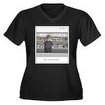 Fast acting Women's Plus Size V-Neck Dark T-Shirt