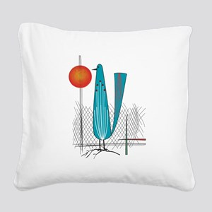 Mid-Century Modern Square Canvas Pillow