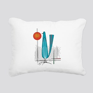 Mid-Century Modern Rectangular Canvas Pillow