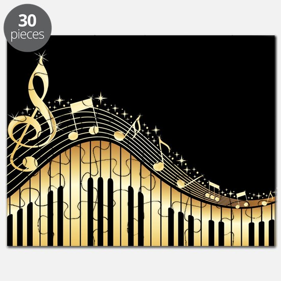 Cool Gold music note Puzzle