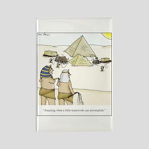Pyramid Teamwork Rectangle Magnet