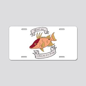Pretty Hogfish Aluminum License Plate
