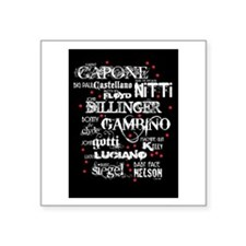 Gangsters Square Sticker 3