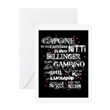 Gangsters Greeting Card