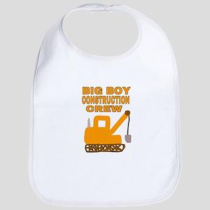 BIG BOY CONSTRUCTION CREW Baby Bib