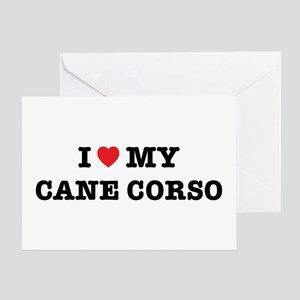 I Heart My Cane Corso Card Greeting Cards