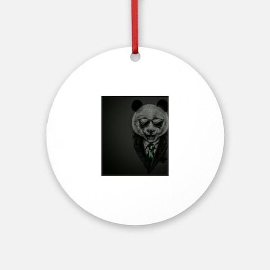 City Panda Round Ornament