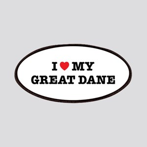 I Heart My Great Dane Patch
